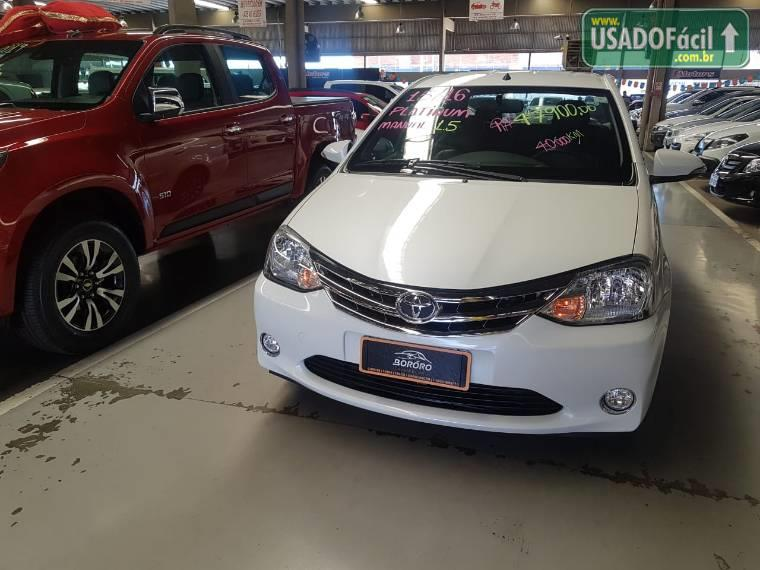Veículo à venda: etios sedan platinum flex